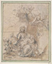 Madonna and St. John the Baptist and Putti