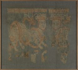 Textile Fragment with Confronted Sphinxes and Serpents