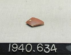 Red glazed sherd