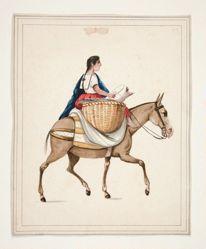 Indian Woman on Horseback