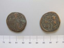 Copper 40-nummi (or follis) of Constantine X, Constantinople