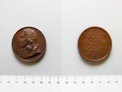 Bronze medal of Isaac Newton