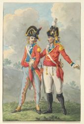 Two Subaltern Officers of the Batavian Army