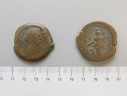 Copper of Faustina II from Alexandria