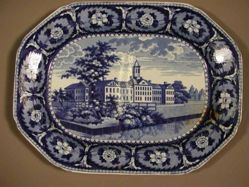 Platter with a view of New York, Almshouse