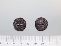 Billon denier of Guy de Lusignan I from Cyprus