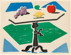 Apples, Grapes, Lemon on a Table, from the Brooklyn Academy of Music 1988–89 Artists Print Portfolio