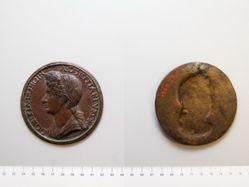 Bronze portrait of Domitia Longin