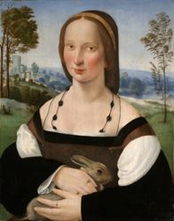 Portrait of a Lady with a Rabbit