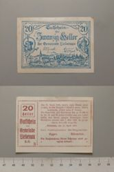 20 Heller from Liebenau, Notgeld
