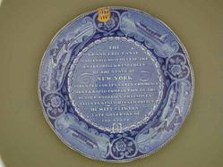 Plate with Erie Canal Inscription - DeWitt Clinton Eulogy