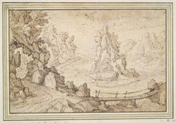 Rocky Landscape with Bridge