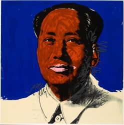 Mao, in a portfolio of ten: Red face, pink lips
