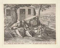 Saints Romualdus and Marinus (from Oraculum Anachoreticum, 20)