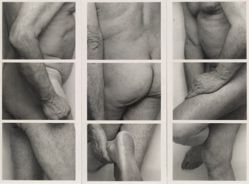 Untitled study for Self Portrait (Frieze No. 4, Three panels)
