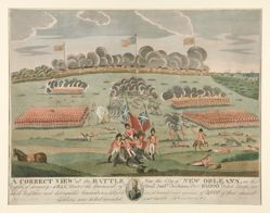 A Correct View of the Battle near the City of New Orleans