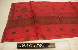 Scarf of wax painted cotton cloth,