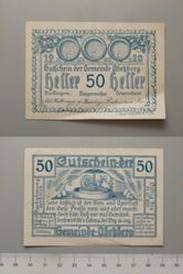 50 Heller from Abekberg, redeemable Dec. 21, 1920, Notgeld