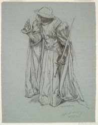 Study for Richard, from Richard, Duke and Gloucester, and the Lady Anne, from Richard III, act I, scene II