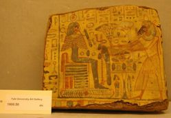 Fragment of a wooden coffin (painted on both sides)