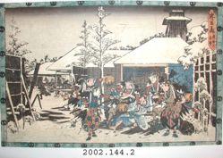 The Chushingura Act XI, Night Attack Scene III - Capturing Moronao