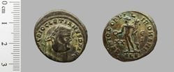 1 Nummus of Diocletian, Emperor of Rome from Alexandria