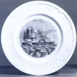 Plate: The Constitution and the Guerriere