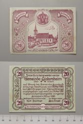 20 Heller from Aistersheim, issued 15 June 1920, redeemable 31 may 1921, Notgeld