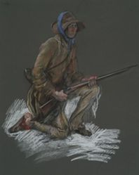 """Figure study for """"Valley Forge"""" mural in the House Chamber of the Pennsylvania state capitol building, Harrisburg, 1902-1911"""