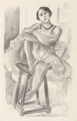 Dancer on a Stool, from the series Dix Danseuses (Ten Dancers)