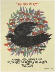 """The Bird in Art,"" November 7, 1964–January 3, 1965, The University of Arizona Art Gallery, Tucson"