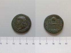 Orichalcum dupondius of Nero, from Lugdunum