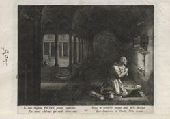 Paulus, number 25 of 25 numbered plates from Trophaeum Vitae Solitariae (Male Hermits)