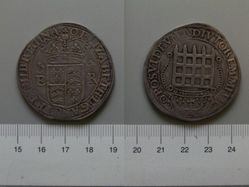 8 Testern Piece of Elizabeth I, Queen of England from Tower Mint, London