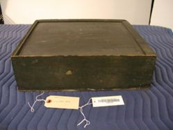 Box containing printing blocks for textiles