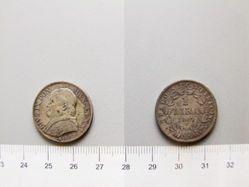 1 Lira of Pope Pius IX from Rome