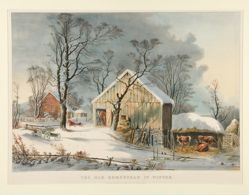 The Old Homestead in Winter