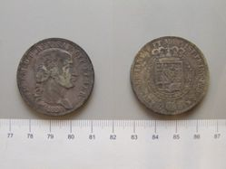5 Lire  from Genoa with Vittorio Emanuele I di Savoia