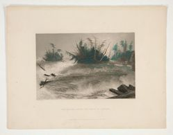 The Rapids Above the Falls of Niagara, illustration for Nathaniel Parker Willis's book American Scenery