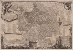 Nuova pianta di Roma (New Plan of Rome), after Giovanni Battista Nolli (Italian, 1701–1756)