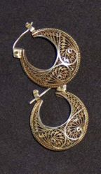 Pair of Filigree Earrings