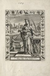 Saint Cecilia, 1 of 25 plates from the series Martyrologium Sanctarum Virginum (Female Martyr Saints)