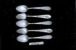Five teaspoons