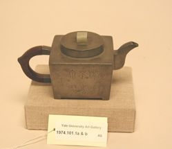 Wine pot with wooden handle and jade finial