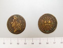 1 Shilling with King James II