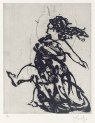 Zeno at 4am (dancing woman) 2001, from suite of 9 etchings