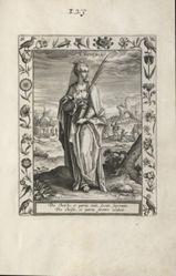 Saint Eugenia, 1 of 25 plates from the series Martyrologium Sanctarum Virginum (Female Martyr Saints)