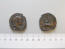 Coin of Gordian III, Emperor of Rome from Rome