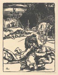 Après le combat (After the battle), from La Guerre de 1914, first series, no.14