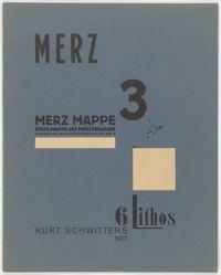 Cover for the portfolio Merz 3. Kurt Schwitters 6 Lithos. Merz Mappe. Erste Mappe des Merzverlages (Merz 3. Kurt Schwitters 6 Lithos. Merz Portfolio. First Portfolio of the Merz Publisher)